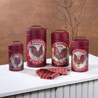 Rooster Canister Set of 4 Food Safe