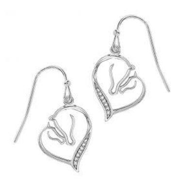 Mare & Foal Heart Earrings