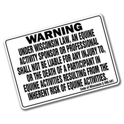 Wisconsin Liability Barn Sign