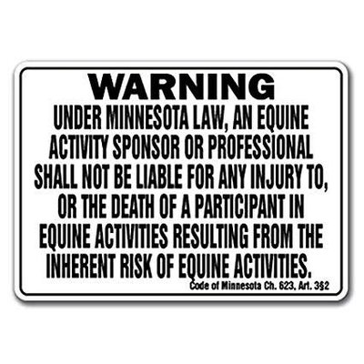 Minnesota Liability Barn Sign