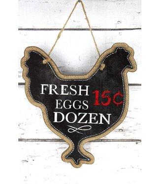 Fresh Eggs Chicken Sign