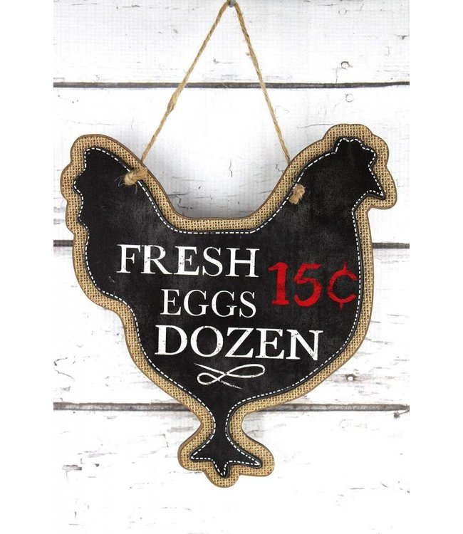 Fresh Eggs Chicken Sign