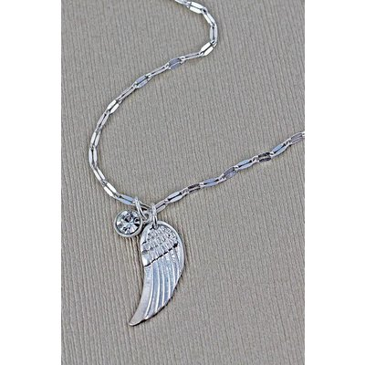 Crave Wing & Crystal Necklace