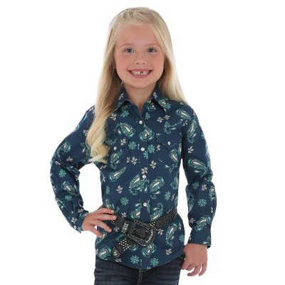 Wrangler Girl's Paisley Print Shirt GW1875M