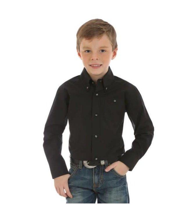 Wrangler Kid's Classic Solid Western Shirt