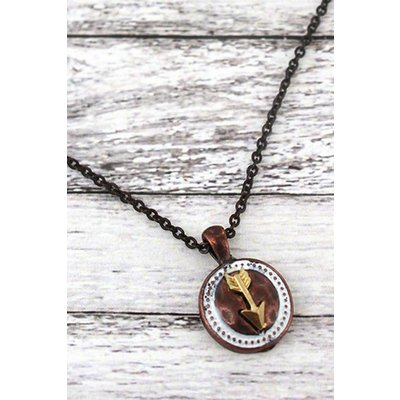 Follow Your Heart Arrow Necklace