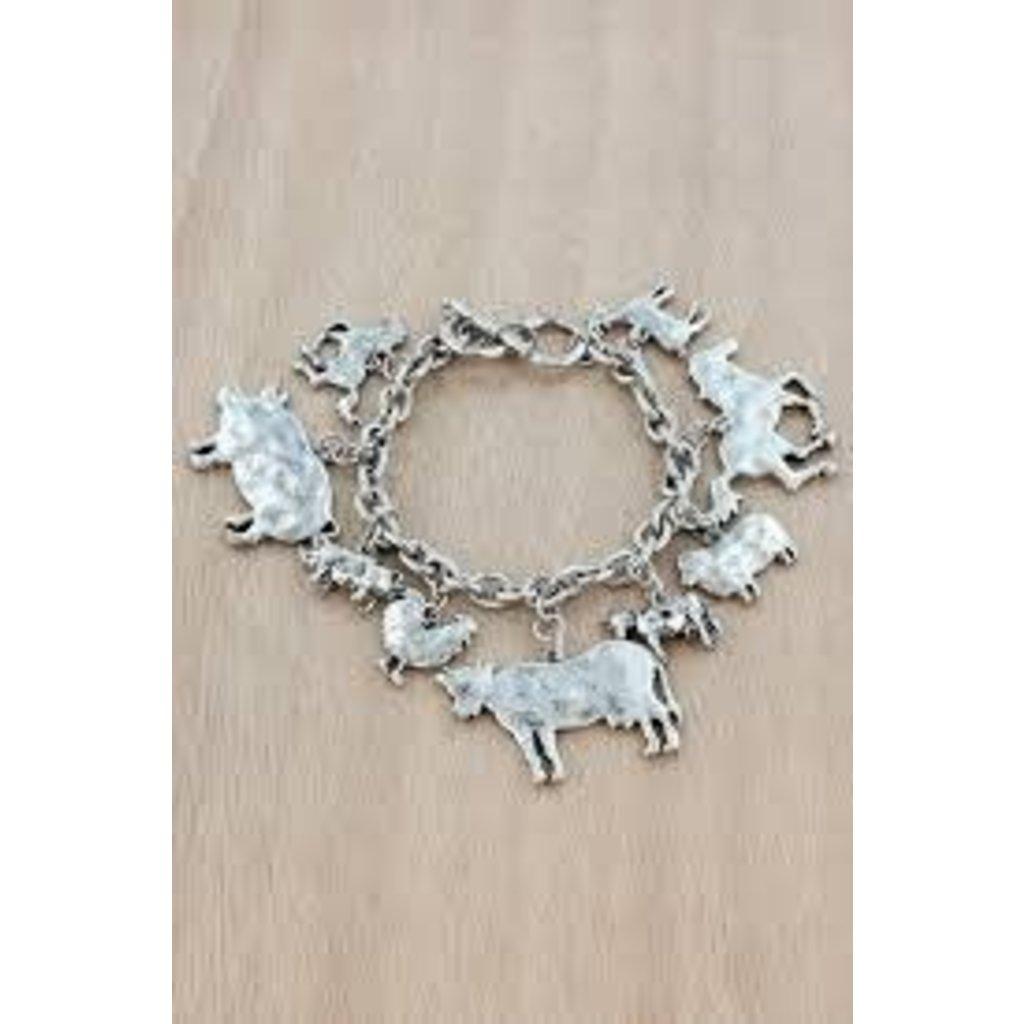 Farm Animal Charm Toggle Bracelet