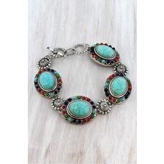 Multi-color Concho Toggle Bracelet