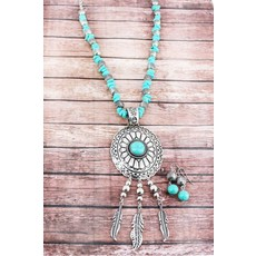 Turquoise Dream Catch Jewelry Set