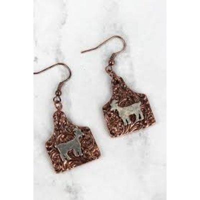 Goat Tag Earrings