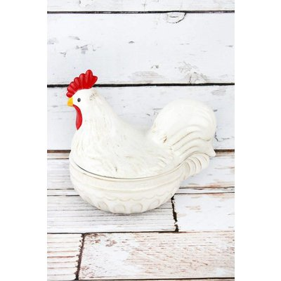 Ceramice Rooster Dish