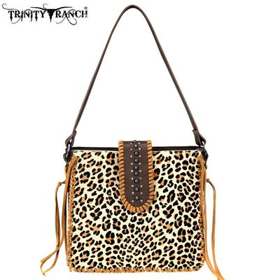 Trinity Ranch Safari Hair On Leather Bag