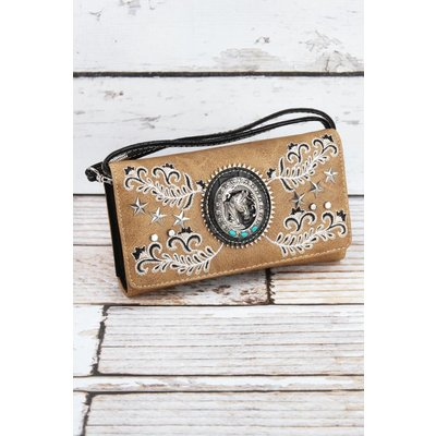 Western Horse Crossbody Wallet