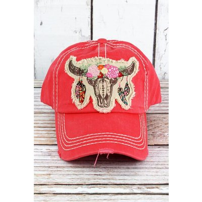 Free Spirit Steer Distressed Cap