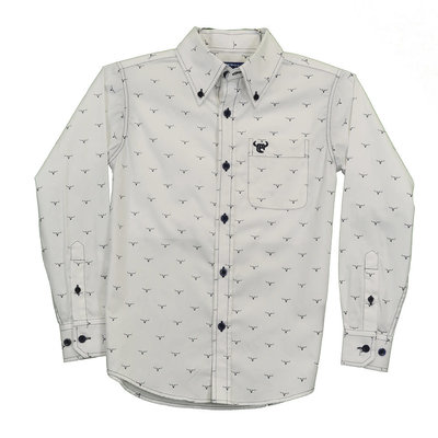 Cowboy Hardware Youth Ghost Steer Western Shirt
