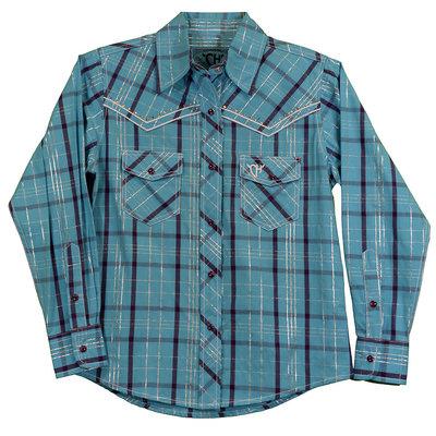 Cowboy Hardware Youth Range Plaid Western Shirt