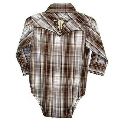 Cowboy Hardware Infant Romper Fellow Plaid Western Shirt