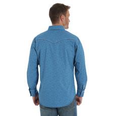 Wrangler Rock 47 Blue Aztec Print Western Shirt
