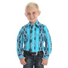Wrangler Kid's Checotah Aqua SW Print Shirt