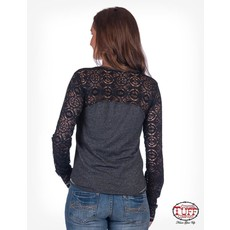 Cowgirl Tuff Victory Cross Lux Lace Tee