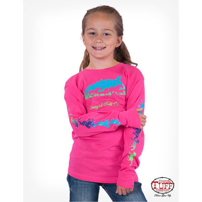 Cowgirl Tuff Hot Pink Horse Graphic Tee