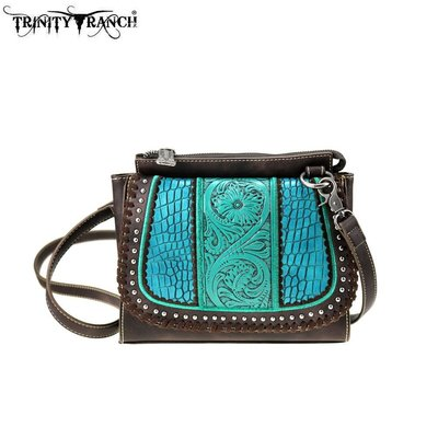 Trinity Ranch Tooled Leather Collection Crossbody