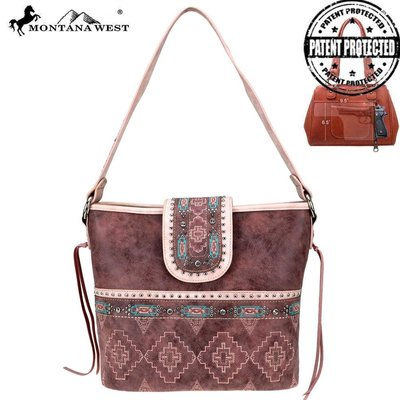 Montana West Aztec Collection Concealed Carry Hobo