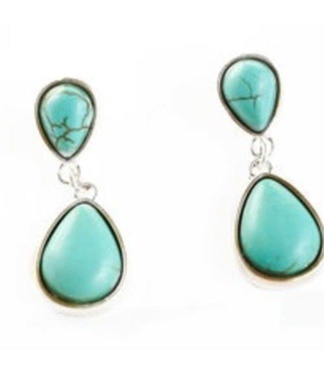 Turquoise Corralejo Concho Earrings