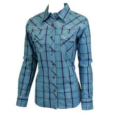 Cowboy Hardware Ladies Range Plaid Western Shirt