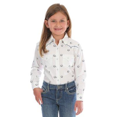 Wrangler Girl's Horseshoe Western Shirt GW2031M