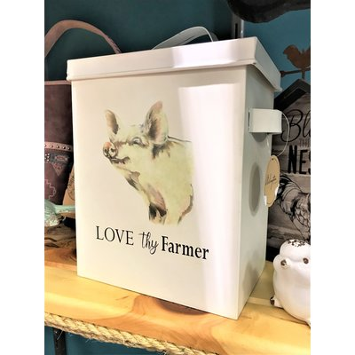 Love Thy Farmer Pig Tin
