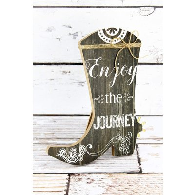 Enjoy the Journey Cowboy Boot Sign