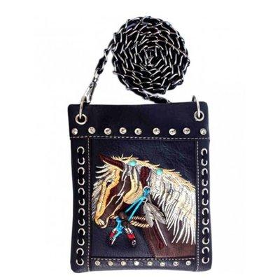 Horse Embroidery Mini Crossbody Bag