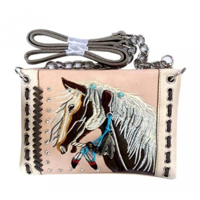 Western Horse Embroidery Mini Crossbody Bag