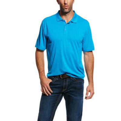 Ariat Men's Hive Tek Polo Blue Jewel