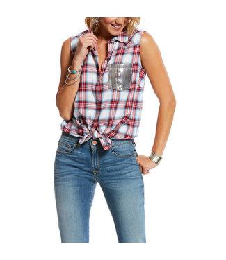 Ariat Women's Liberty Plaid Sleeveless Shirt
