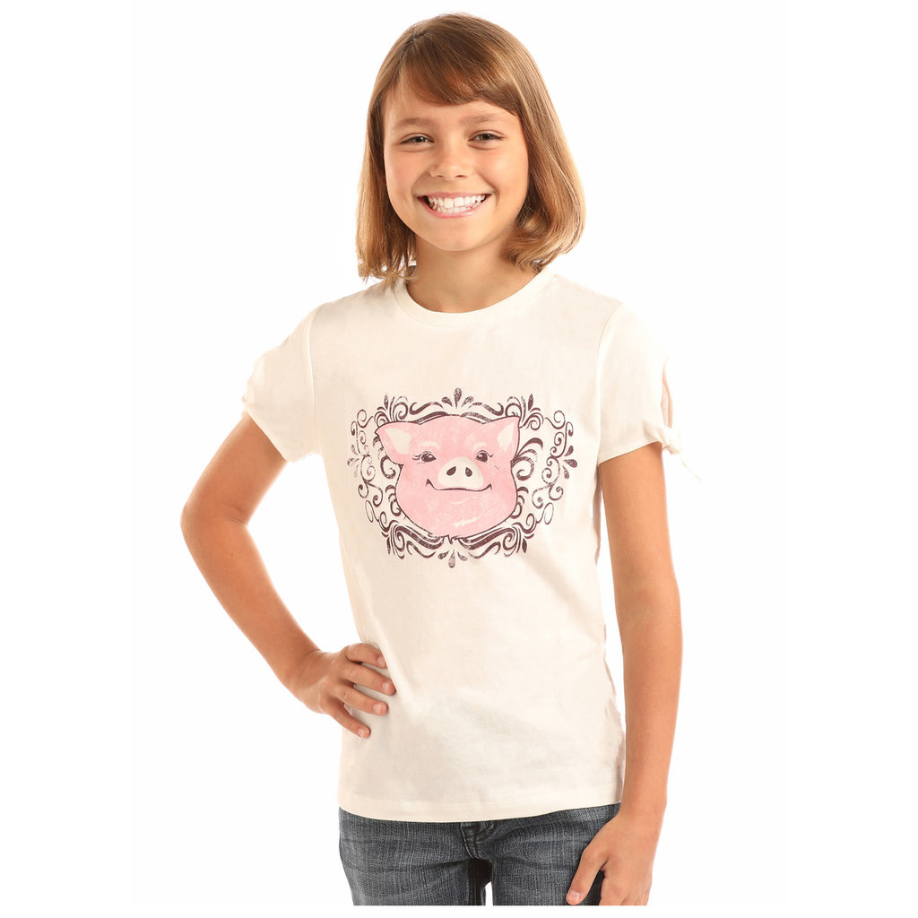 Panhandle Slim Girl's Vintage Piggy Graphic Tee