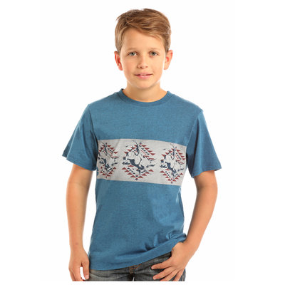 Panhandle Slim Kid's Western Graphic Border Tee