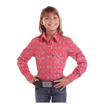 Panhandle Slim Kid's Cactus Western Shirt C6S1741