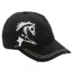 Lila 3D Embroidered Horse Cap