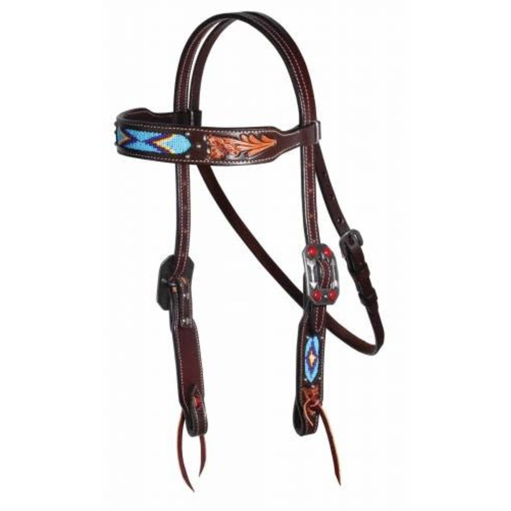 Professional's Choice Dark Oil Beaded Browband Headstall