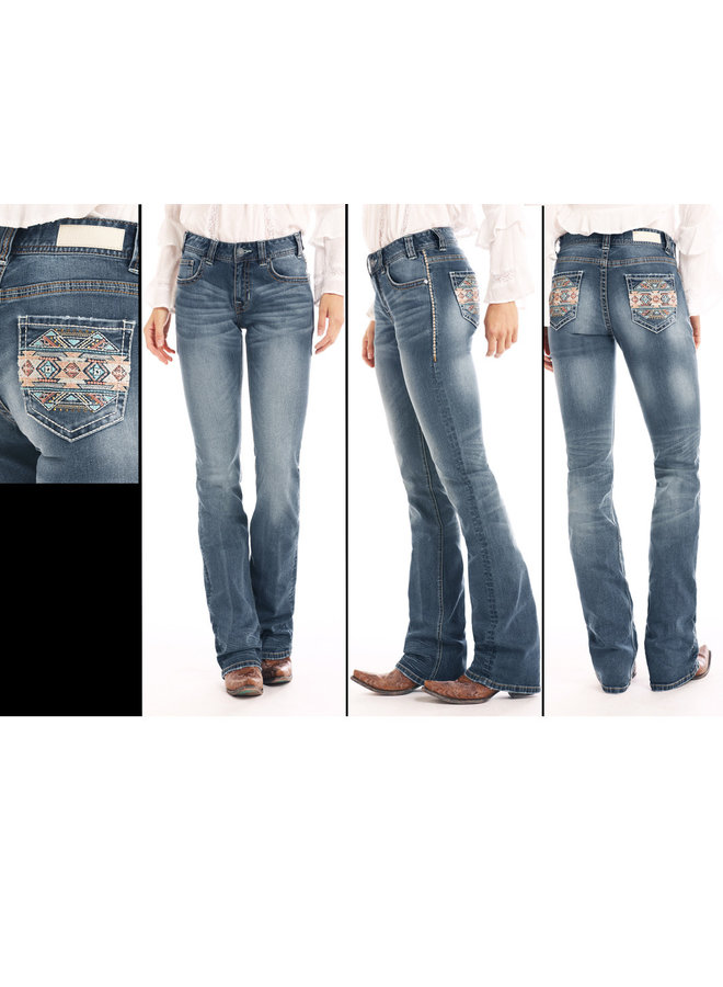 Rock & Roll Denim Jean W1-1034 Aztec Pocket