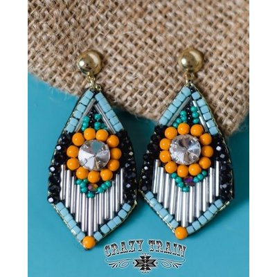 Crazy Train Clothing Art Deco Earrings