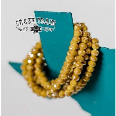 Crazy Train Clothing Honey Mustard Single Strand Bracelet