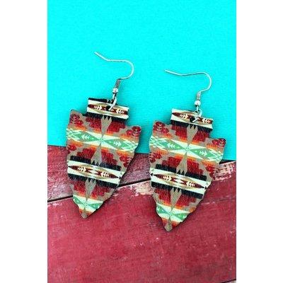 Arrowhead Wood Earrings