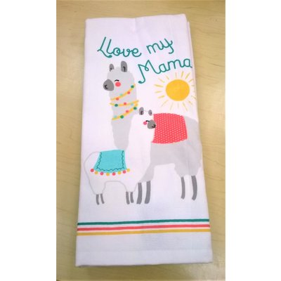 Beyond the Barn Love My Mama Llama Kitchen Towel Set Of 2