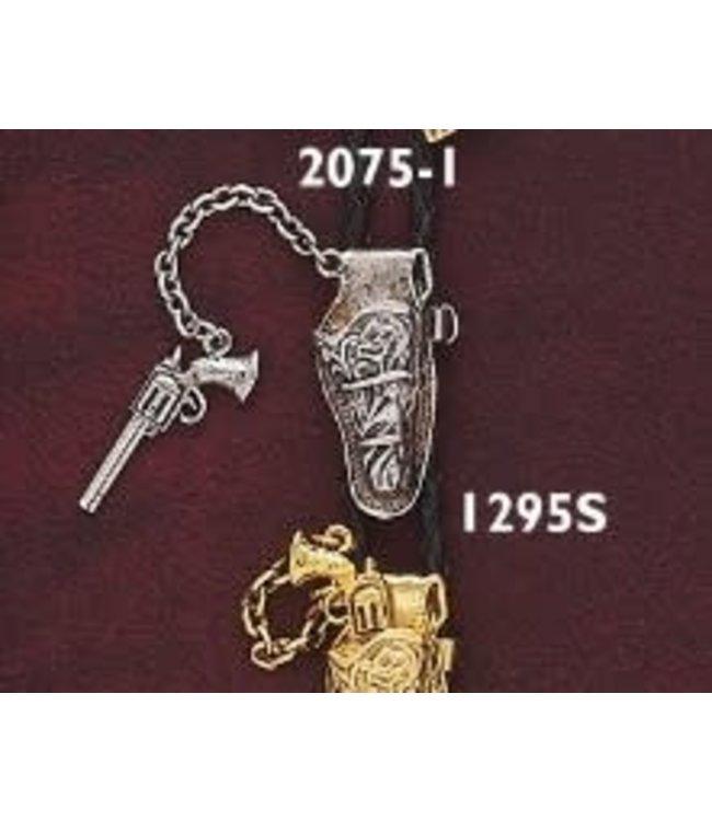 Austin Bolo Tie Silver Gun
