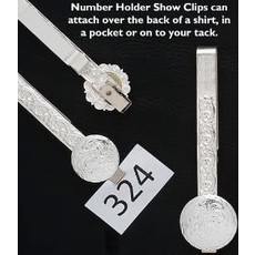 Austin Silver Number Clip Bar