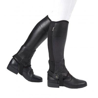 Flexi Leather Half Chaps Black