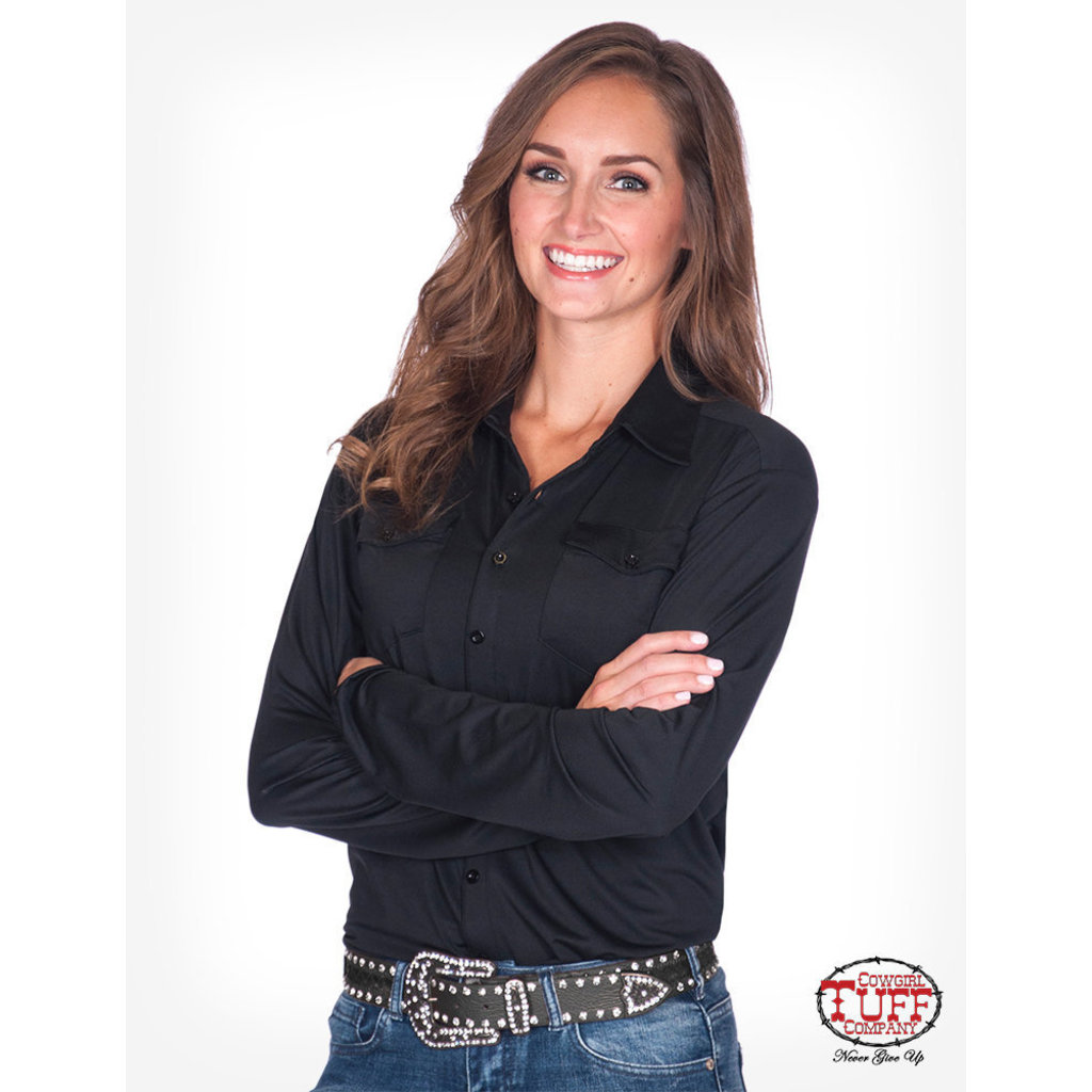 Cowgirl Tuff Sport Jersey Pullover Button-Down